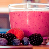 Jugo antioxidante de frutos rojos