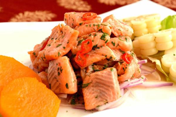 Receta del ceviche de Trucha