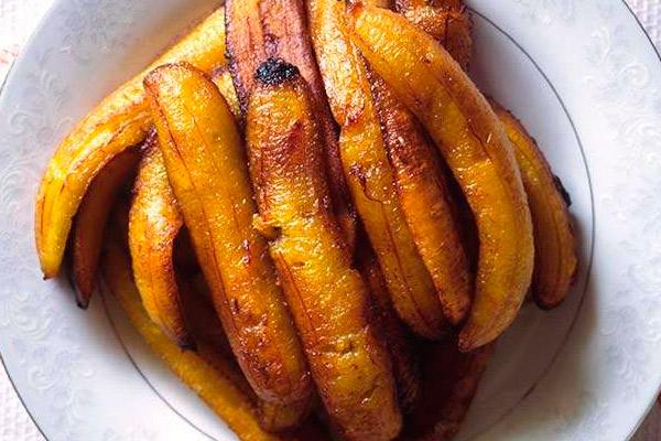 Receta del plátano asado