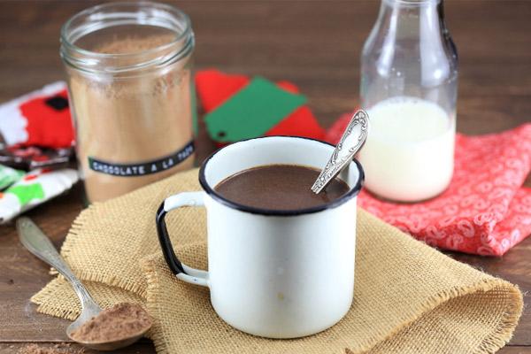 Receta del Chocolate de Navidad en taza