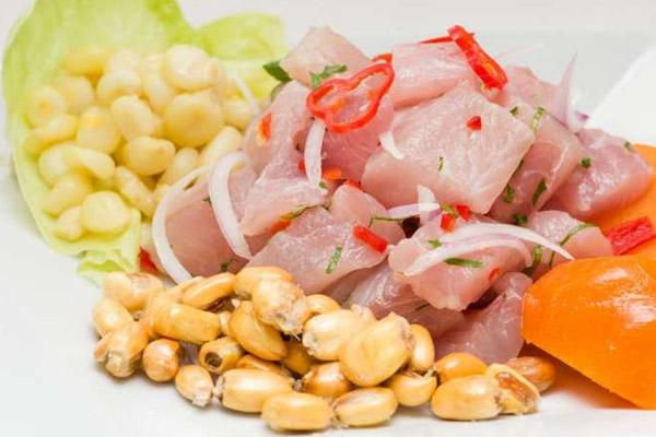 Receta del cebiche de pescado peruano