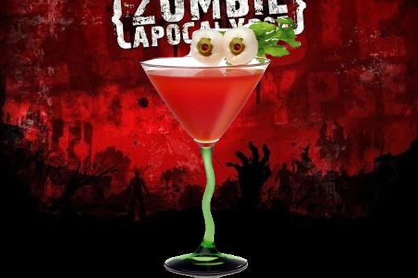 Cóctel Red Zombie, ideal para Halloween