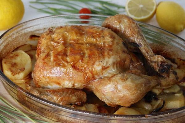 Pollo al horno al estilo peruano