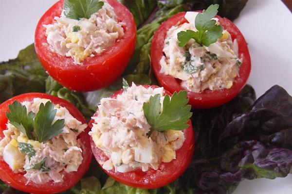 Receta de los Tomates rellenos de atún