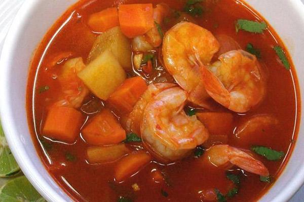 Receta de la sopa de langostinos casera