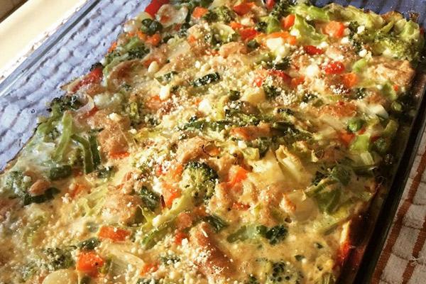 Receta del Pastel de Verduras