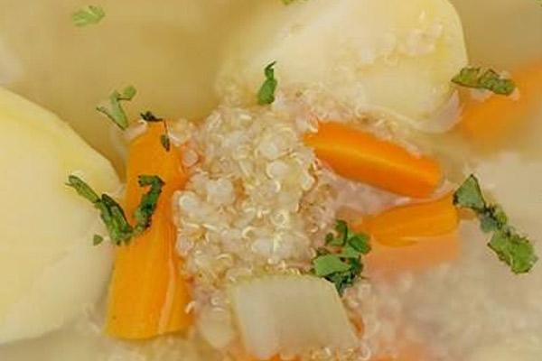 Receta de la sopa de quinua