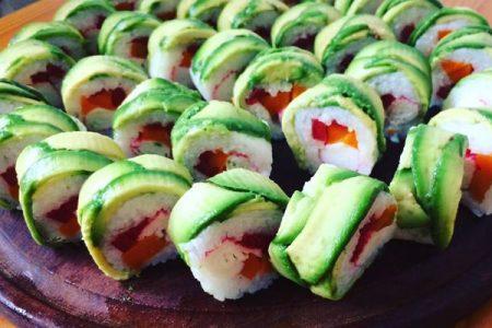 Receta del Sushi sin algas o nory