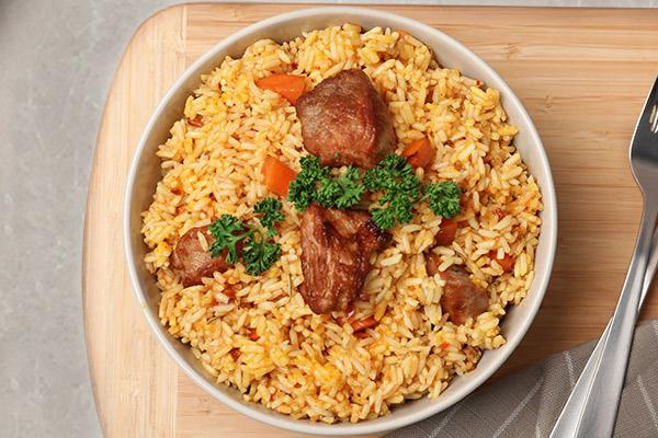 Receta del arroz con cerdo