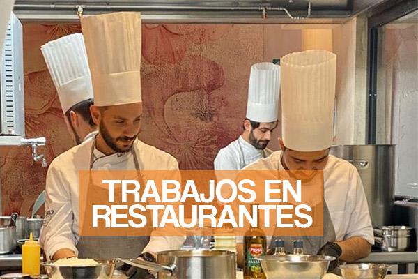 Trabajos en restaurantes y cocinas del Perú