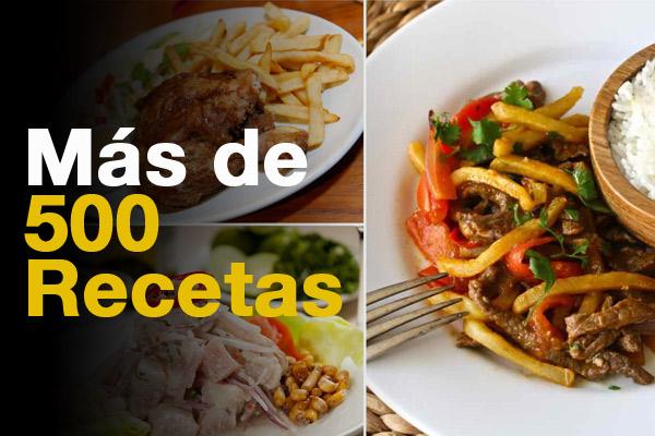 Más de 500 recetas de comida peruana